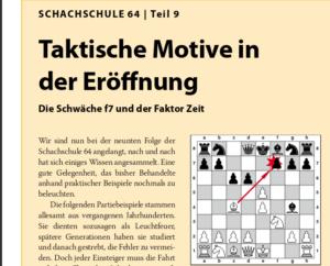 Schachschule 64 – Teil 2: Taktische Motive und vieles mehr