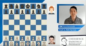 GM Niclas Huschenbeth spielt gegen Beth Harmon