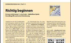 Schachschule 64 – Teil 3: Abweichen von der Regel