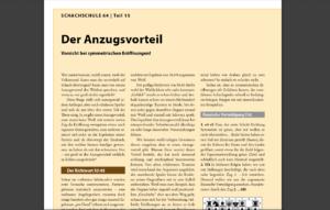 Schachschule 64 – Teil 5: Anzugsvorteil