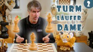 10.000+ Kinder online Schach beibringen: Lektion #2 Die Schachfiguren: Turm, Läufer & Dame